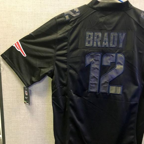 reputable site c17ee ca48a NWT Nike Black on Black #12 Tom Brady Jersey 3XL NWT